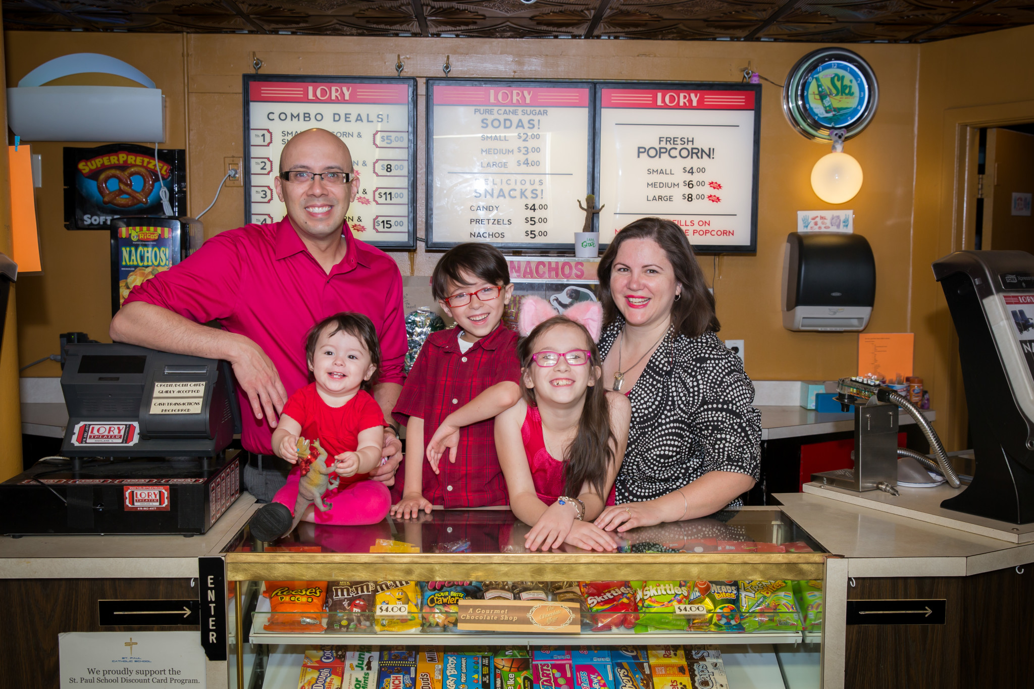 The McLaughlin family at The Lory Theater